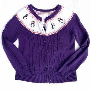 Gymboree Dancing Penguin Knit Button Down Sweater